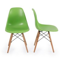Eames Style DSW Wood Base Mid Century Modern Shell Dining ...