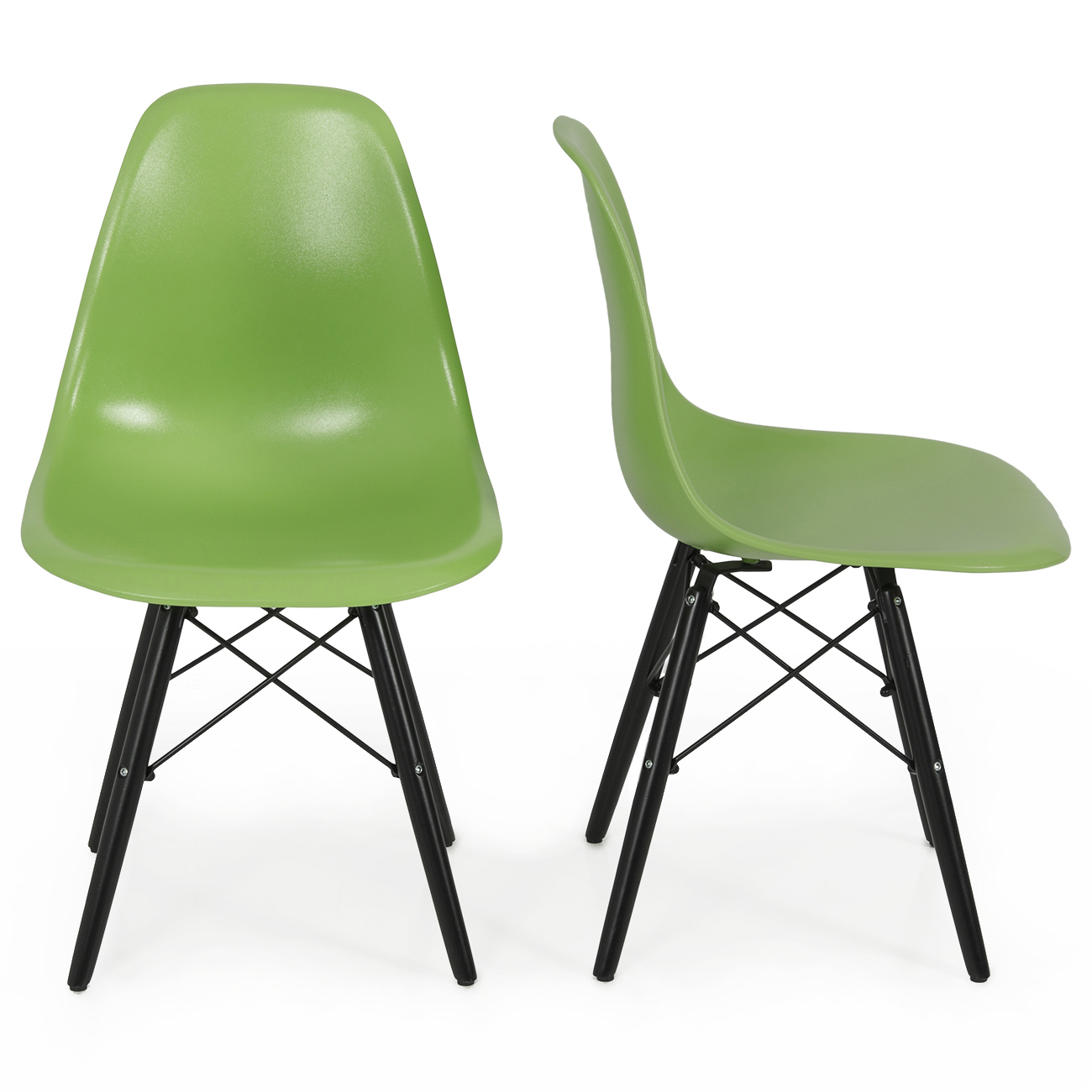 Mid Century Side Chair Set Of 2 Mid Century Eames Style Dsw Eiffel Side Chair