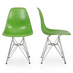 Eames Style Plastic Chair Glam Dining Room Covers 2x Dsw Modern Eiffel Side Molded Abs