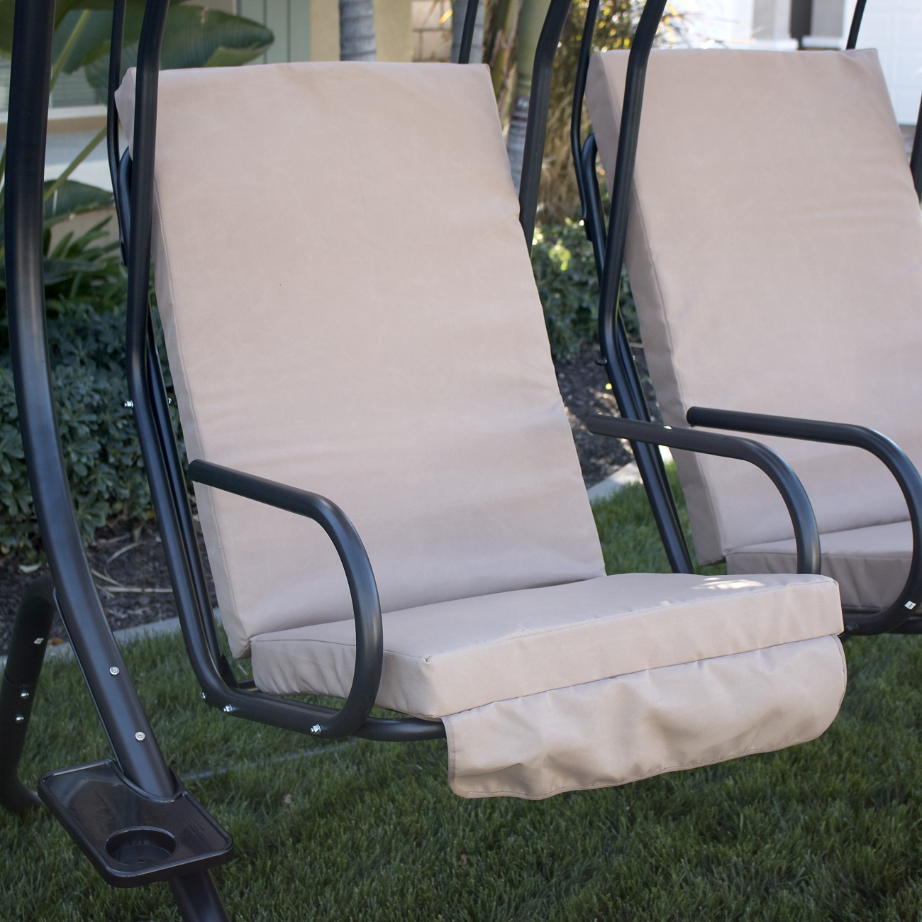 New Hanging Chaise Lounger Chair Arc Stand Air Porch Swing