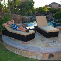Reading Poolside Lounge Chair Wicker Resin Chairs 3 Piece Rattan Chaise Set Patio Steel