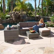 Outdoor Wicker Rattan Sofa Patio Furniture Set