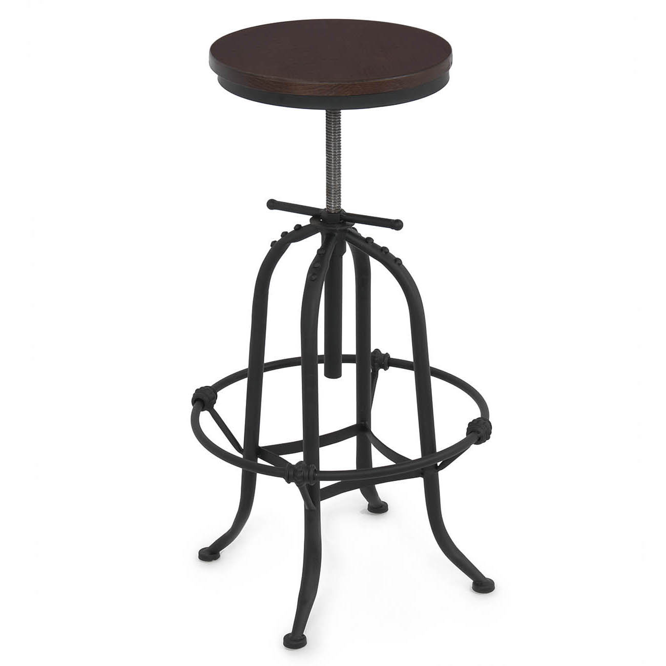 countertop height folding chairs lazy boy swivel rustic bar stool home adjustable seat
