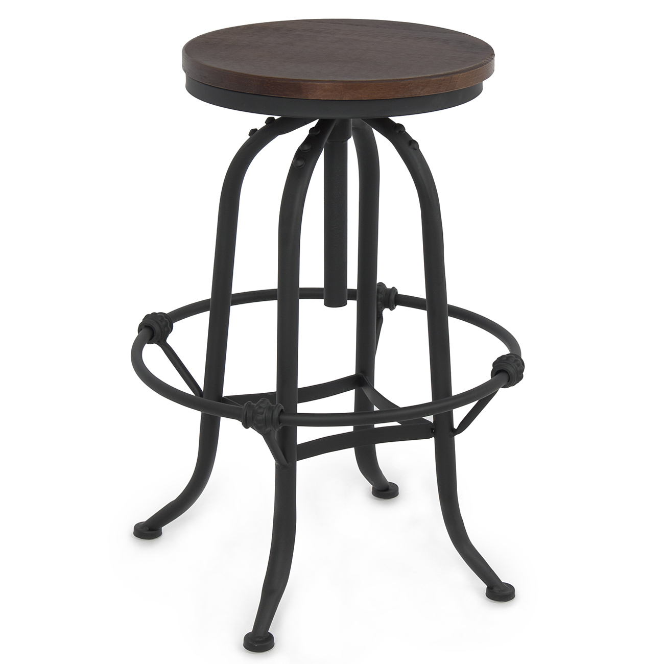 countertop height folding chairs brown wedding rustic bar stool home adjustable seat