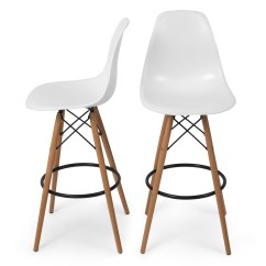 Bar Stool Chair Legs Linen Club Set Of 2 Modern Eames Style Dsw Side Mid