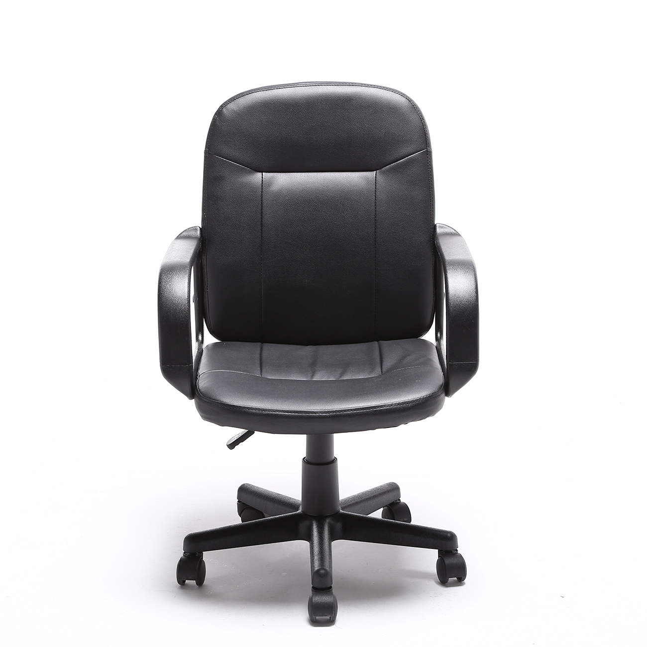 modern black leather desk chair cover rentals in charlotte nc office executive pu computer