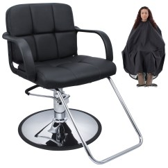 Hydraulic Hair Styling Chairs Homecrest Chair Covers Professional Black Barber