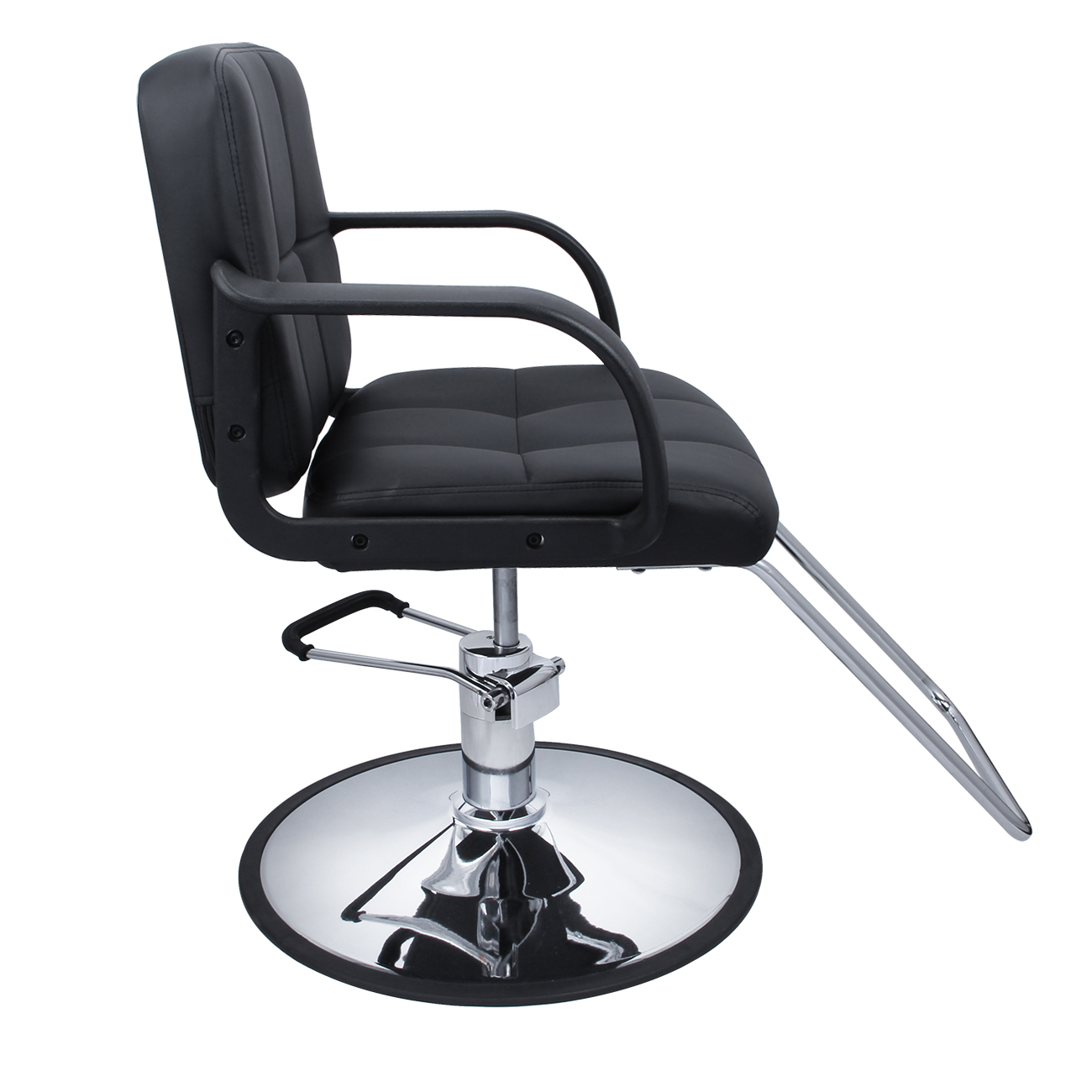 hydraulic hair styling chairs cane for professional black barber chair