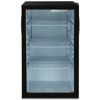 Compact Refrigerator Mini Fridge Glass Door Cooler w/ Led