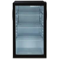 Compact Refrigerator Mini Fridge Glass Door Cooler w/ Led