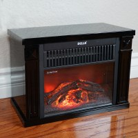 Tabletop Infrared Space Heater Flame Effect Portable Mini ...