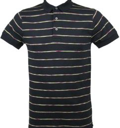 french connection striped polo t shirt darkest blue [ 768 x 1024 Pixel ]