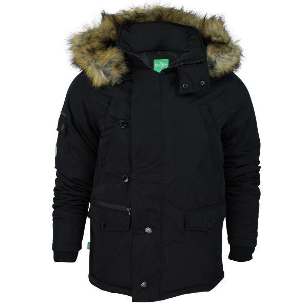 Mens Parka Jacket Le Breve 'ant' Fur Trim Hoodie Coat