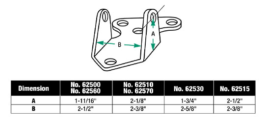 Moroso 62515 Solid Steel Motor Mounts Chevy V8 2.375