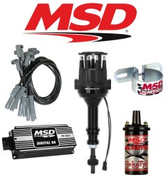 msd black ignition kit digital 6a distributor wires coil ford 289 302 small cap [ 1000 x 1000 Pixel ]