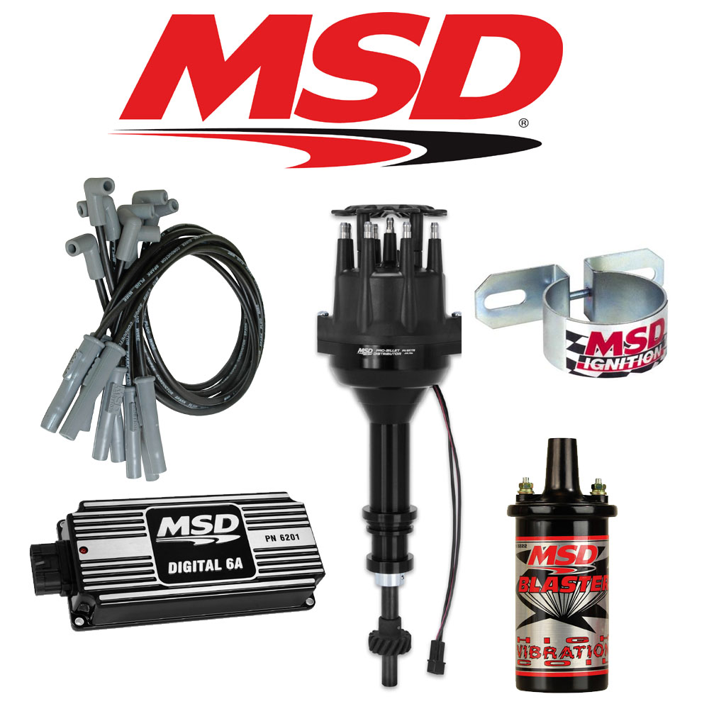 medium resolution of msd black ignition kit digital 6a distributor wires coil ford 289 302