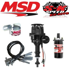 msd 99063 ignition kit ready to run distributor wires coil ford 351c 400 429 460 [ 1044 x 1044 Pixel ]