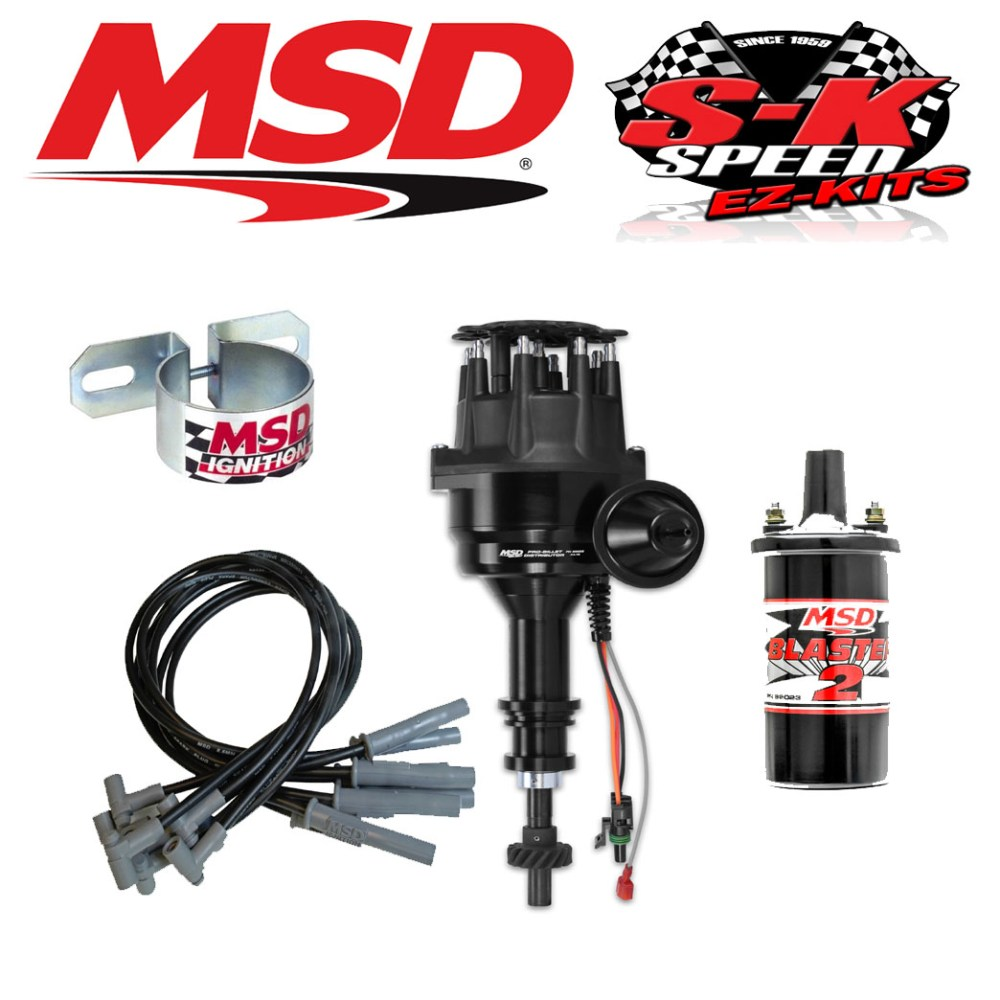 medium resolution of msd 99063 ignition kit ready to run distributor wires coil ford 351c 400 429 460