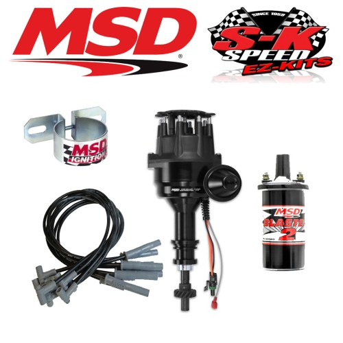 small resolution of msd 99063 ignition kit ready to run distributor wires coil ford 351c 400 429 460