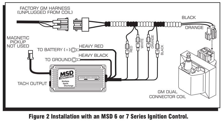 msd 6al wiring diagram chevy royal enfield bullet 500 9993 streetfire ignition kit 88-92 camaro/firebird v8 distributor/box/wires 702730425619 | ebay