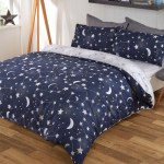 Home Furniture Diy Bedding Sets Duvet Covers Dreamscene Moon Stars Galaxy Duvet Cover With Pillowcase Bedding Set Navy Grey Bortexgroup Com