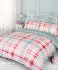 Duvet Quilt Cover Bedding Set Pink Single Double King ...