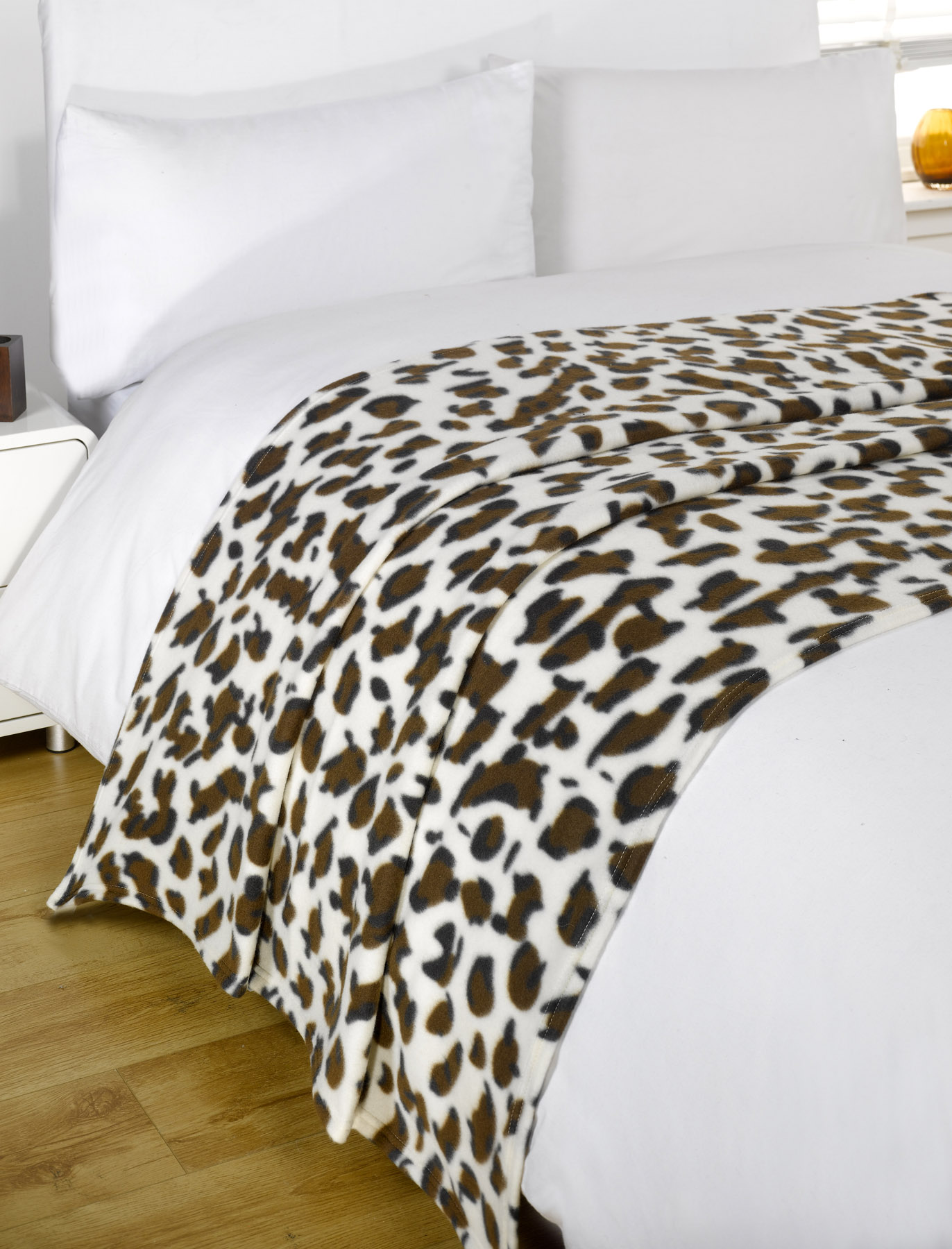 Dreamscene Warm Soft Plain Fleece Throw Over Large