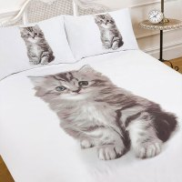 Kitten Duvet Cover with Pillow Case Bedding Set Blanket ...
