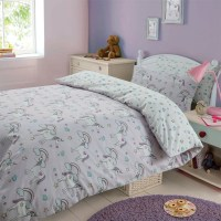 Magical Unicorns Duvet Cover Pillow Case Bedding Set Girls ...