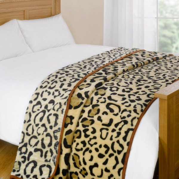 Animal Print Faux Fur Large Mink Throw Soft Warm Luxury Fleece Bed Sofa Blanket