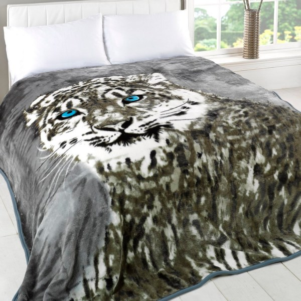 Animal Print Fleece Throw Blanket