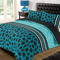 Animal Print Quilt Cover with Pillowcase Duvet Bedding Set ...