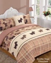5 Piece Bed in Bag Duvet Quilt Cover Scottie Dog Tartan ...