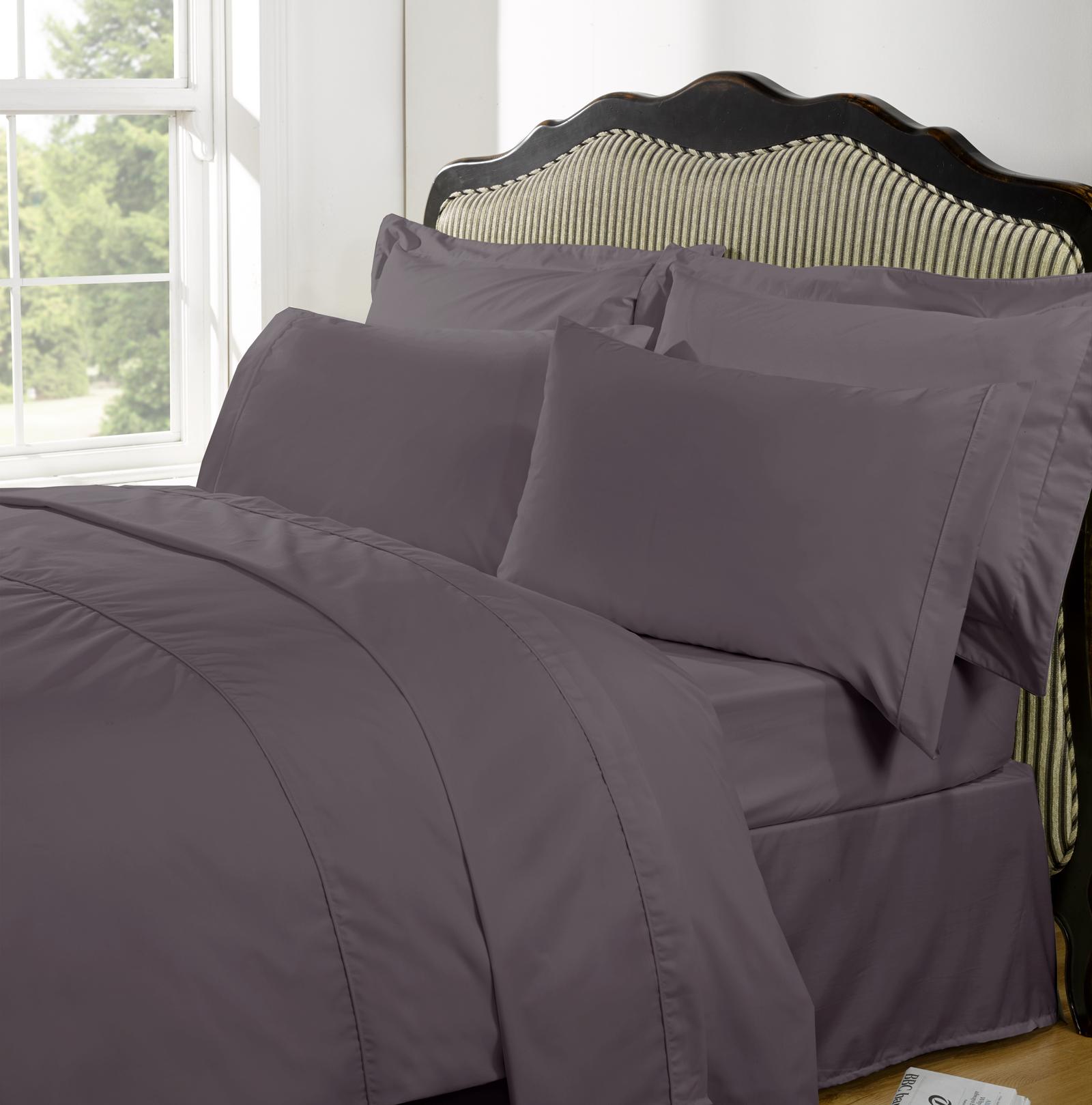 Highams 100 Egyptian Cotton Plain Dye Valance Bed Sheet