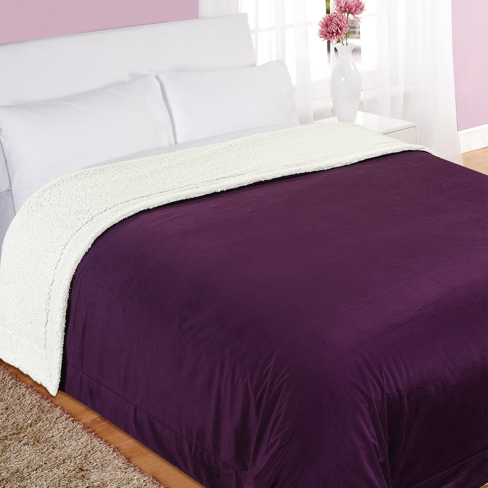 100 polyester sofa throws leather trend sleeper dreamscene luxury large snuggle soft teddy sherpa throw