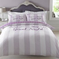 Dreamscene Sweet Dreams Duvet Cover with Pillowcase Stripe ...