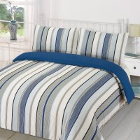 Duvet Quilt Cover with Pillowcase Bedding Set Tenby Stripe