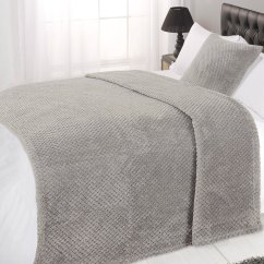 Large Throws For Sofa Klaussner Jenny Reviews Luxury Waffle Honeycomb Mink Warm Thick Throw Over