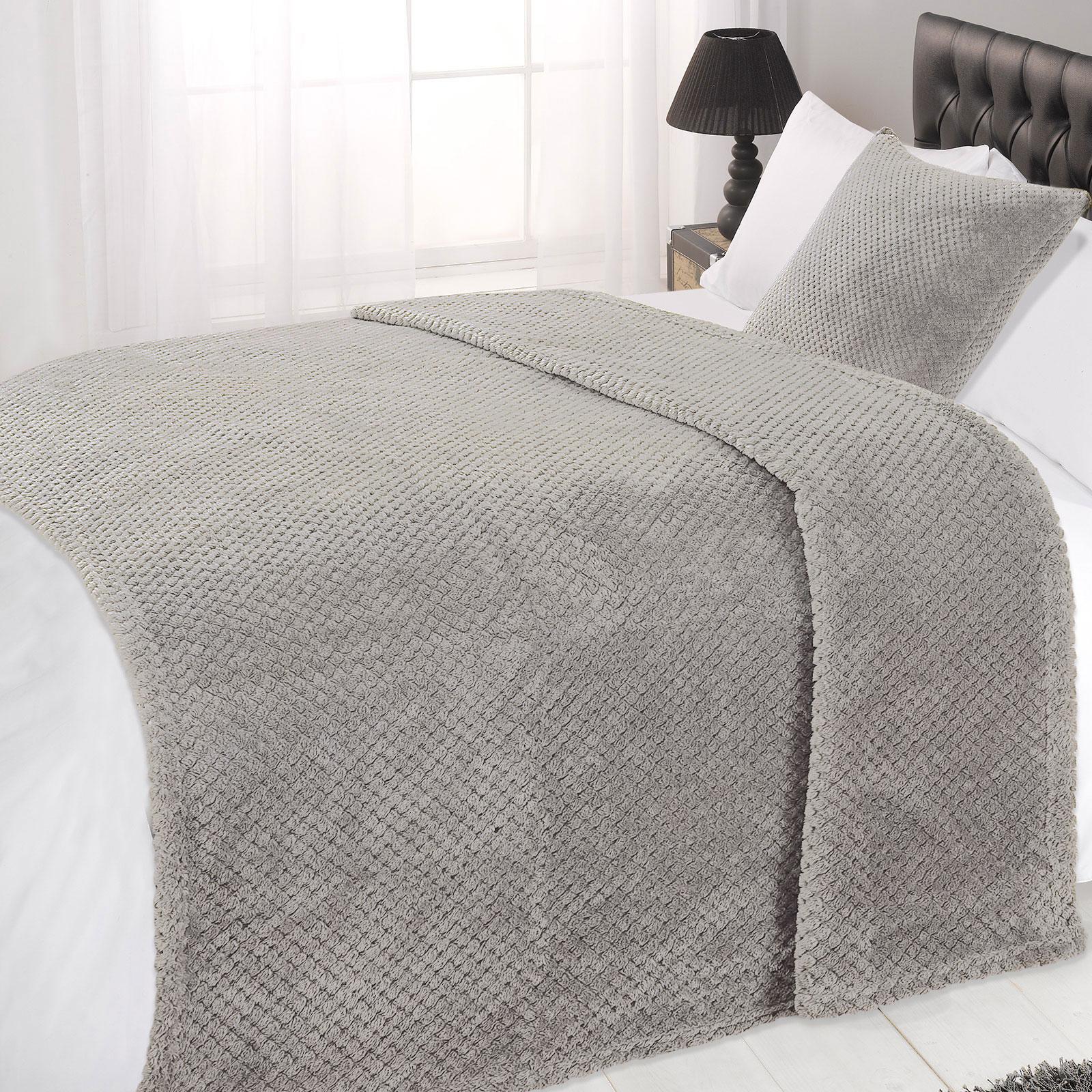 white company sofa throws seat sf cinema dreamscene luxury large waffle honeycomb mink warm throw
