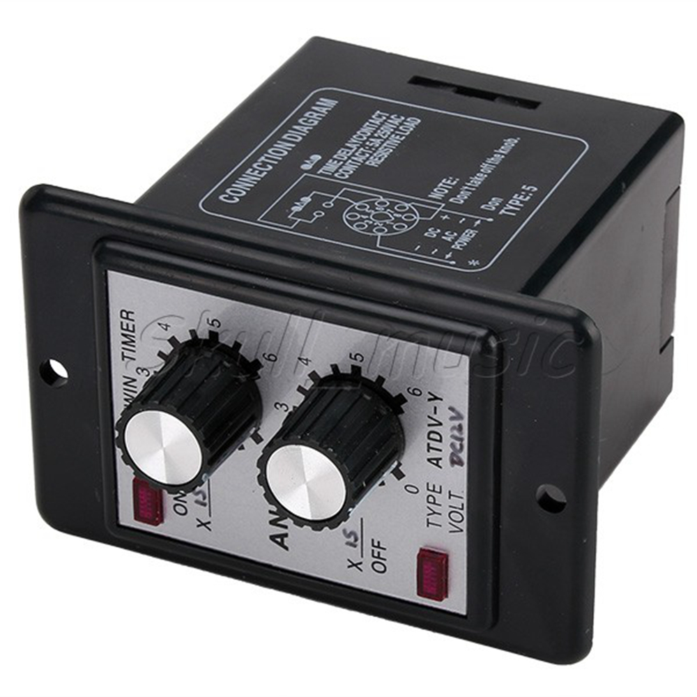 Dc 12v Delay Timer Repeat Cycle Time Relay Range 06s Panel
