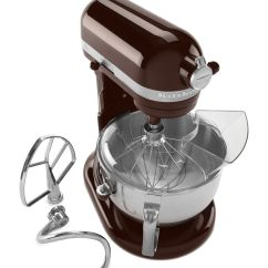 Kitchen Aid Mixer Accessories Ethan Allen Table Kitchenaid 6 Quart Stand And Variety Of