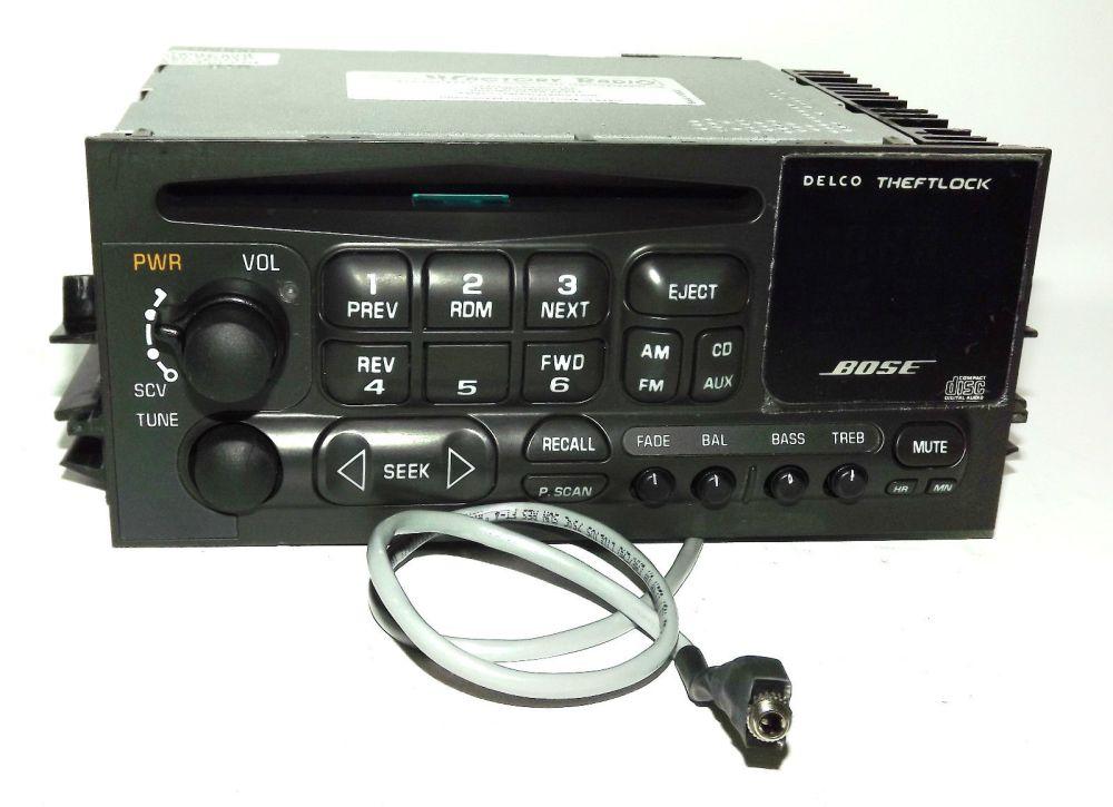 medium resolution of cadillac escalade yukon 01 02 bose radio am fm cd player w aux pigtail 16245605 1 factory radio