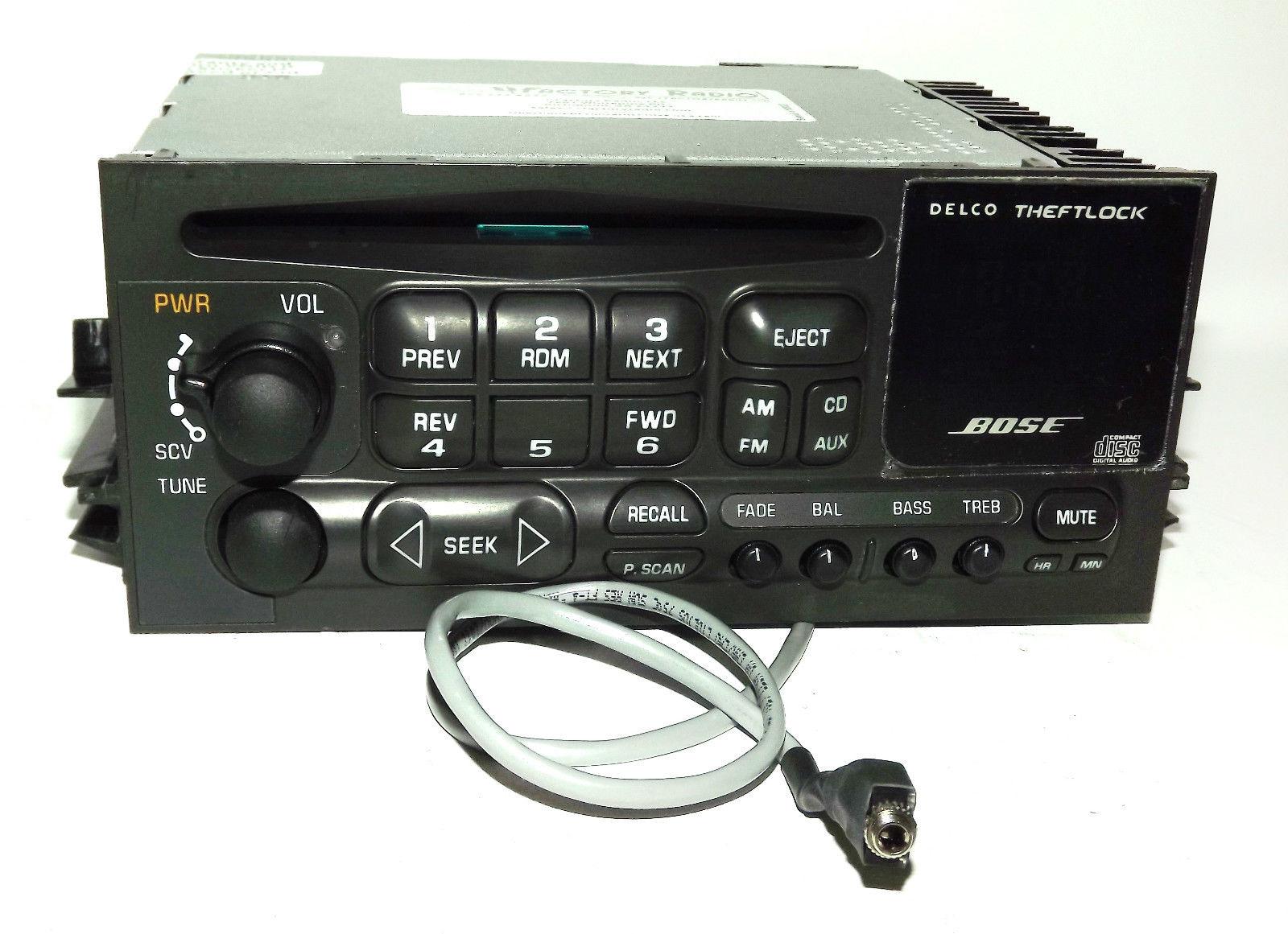 hight resolution of cadillac escalade yukon 01 02 bose radio am fm cd player w aux pigtail 16245605 1 factory radio