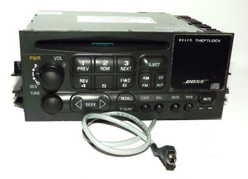 small resolution of cadillac escalade yukon 01 02 bose radio am fm cd player w aux pigtail 16245605 1 factory radio