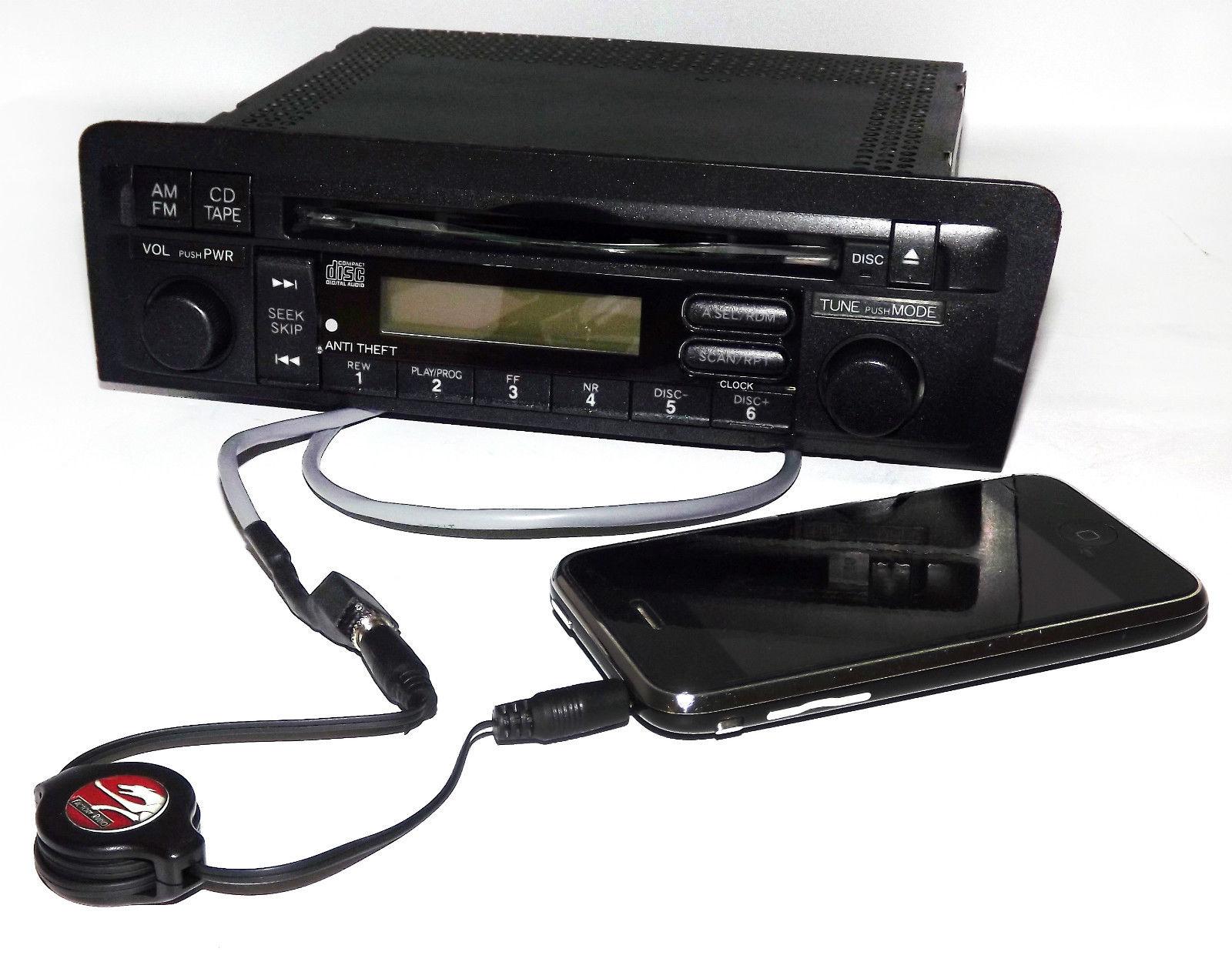 hight resolution of honda civic 2001 2003 radio am fm cd aux input w code part 39101
