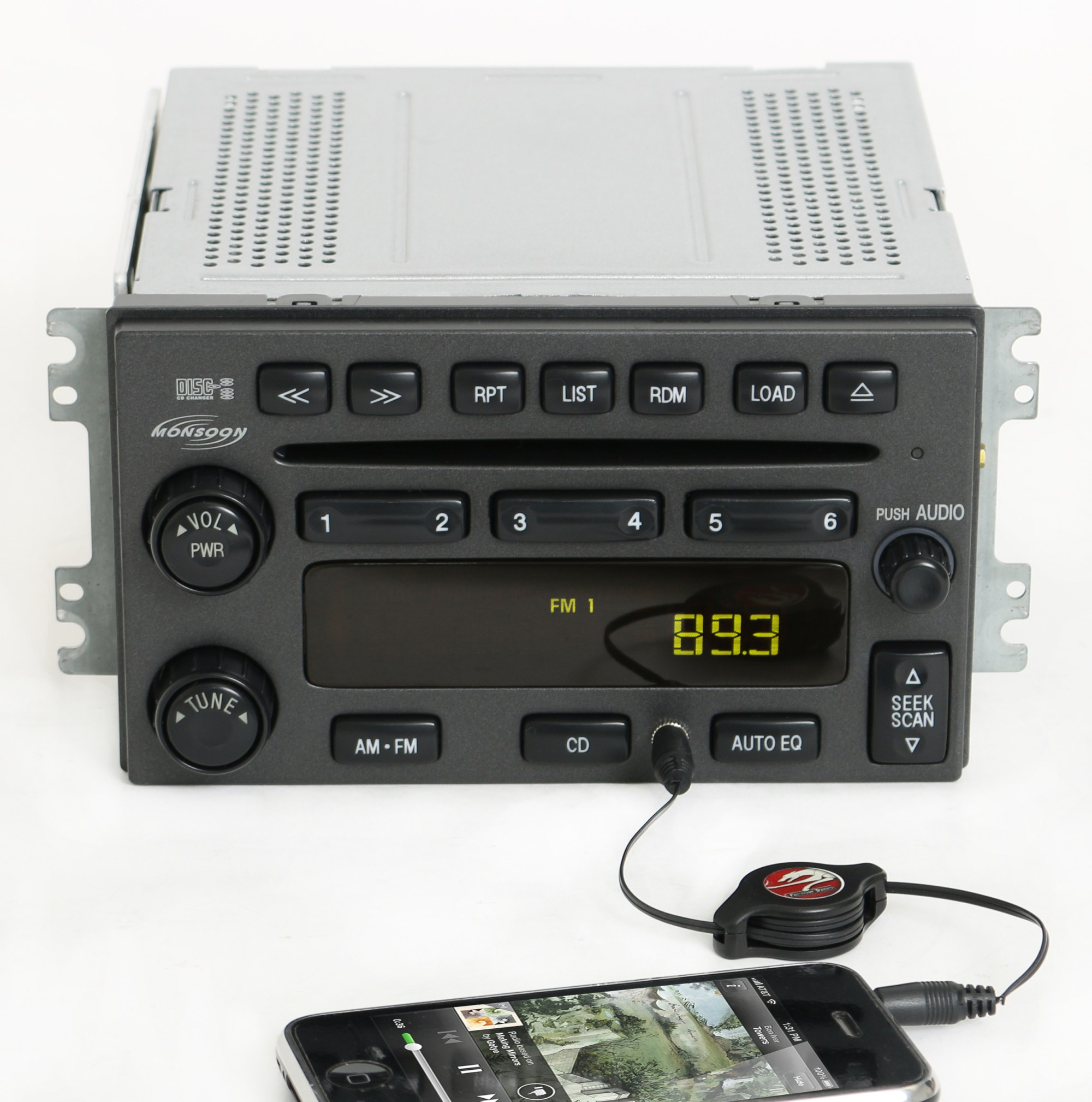 hight resolution of hyundai santa fe 2001 2006 monsoon radio am fm 6 disc cd w aux input pn 12239439 1 factory radio