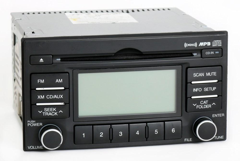 medium resolution of hyundai accent 2007 2011 oem radio am fm mp3 cd player w satellite 96110