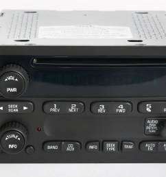 chevy gmc 2003 2005 truck factory oem radio am fm cd player part number 10357894 1 factory radio [ 3868 x 2540 Pixel ]
