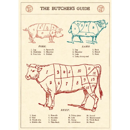 small resolution of butchers guide beef cuts vintage style poster ephemera