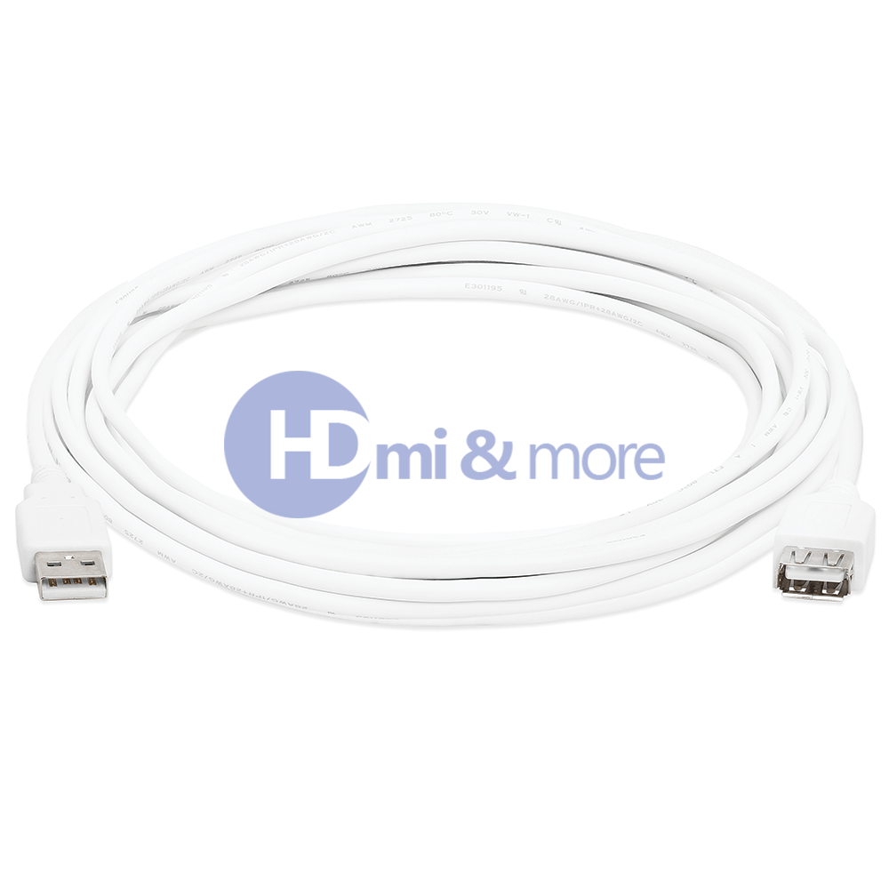 2X 15 FT USB Cable 2 0 A Male M TO Female F Extension
